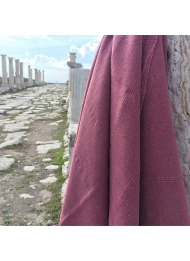 Denizli Concept Efes Taşlanmış Peştemal Pudra